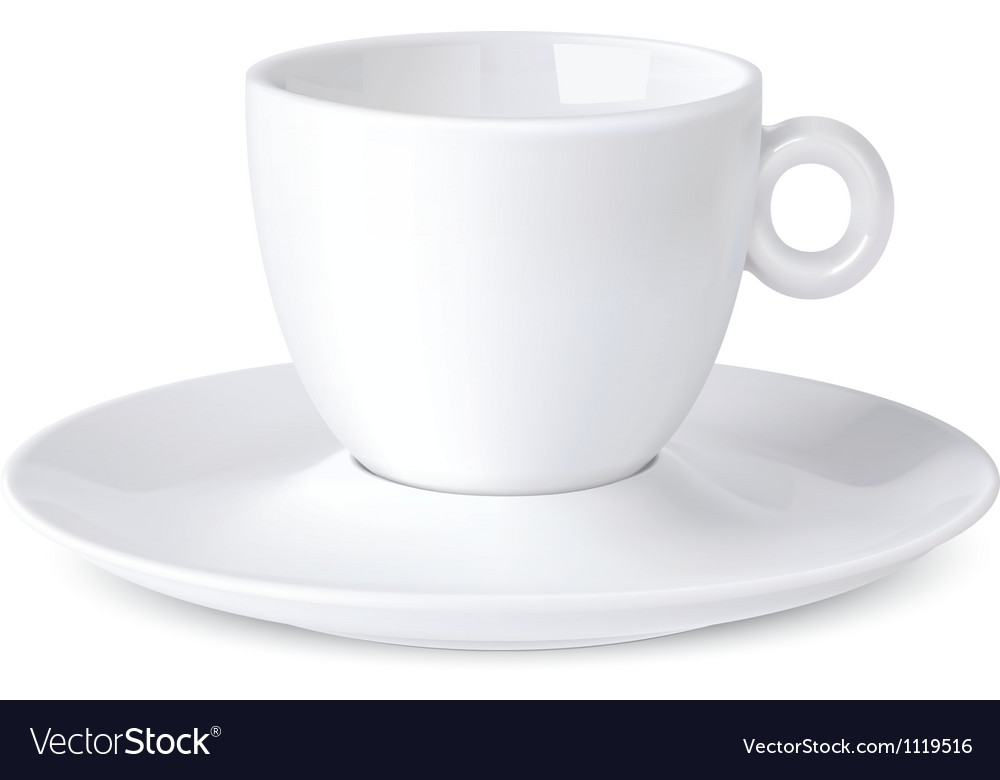 Cup coffee isolated on white vector | Price: 1 Credit (USD $1)