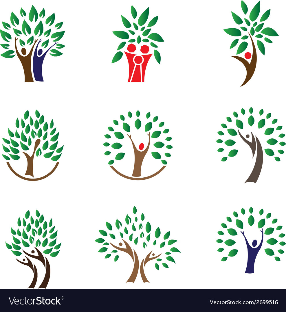 Family tree logo vector | Price: 1 Credit (USD $1)