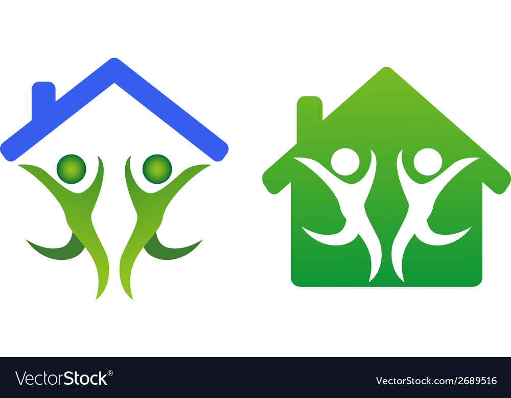 Happy family and home concept icon vector | Price: 1 Credit (USD $1)