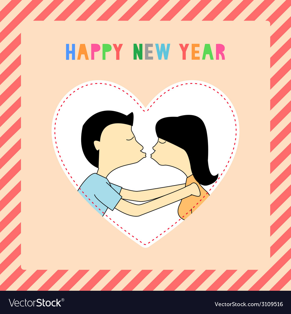 Happy new year greeting card10 vector | Price: 1 Credit (USD $1)