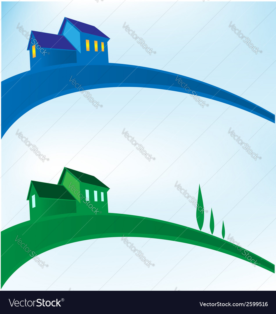 Landscape house background vector | Price: 1 Credit (USD $1)