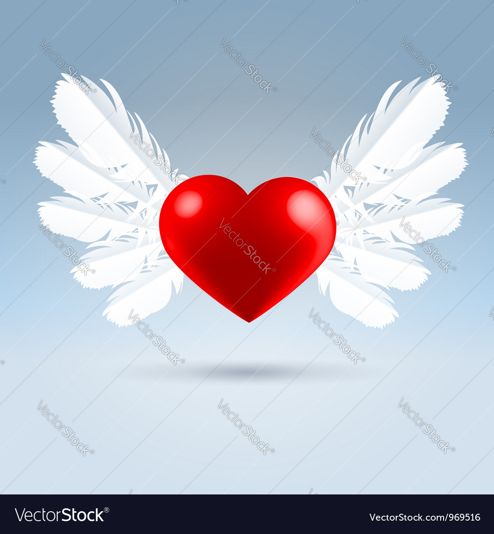 Love wings vector | Price: 1 Credit (USD $1)