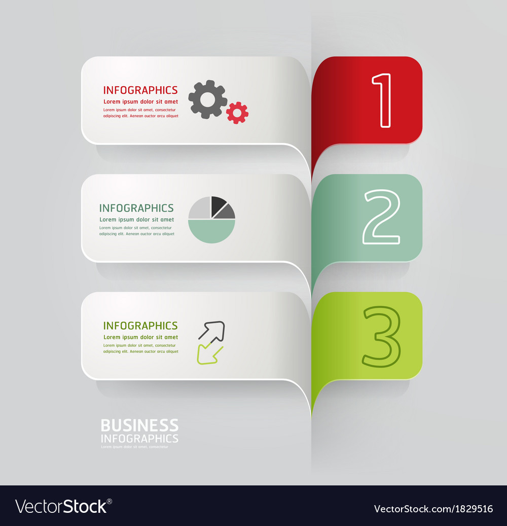 Modern design minimal style infographic template vector | Price: 1 Credit (USD $1)