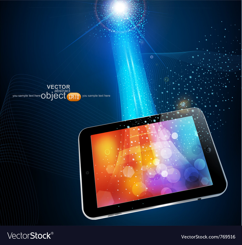 Modern tablet vector | Price: 3 Credit (USD $3)