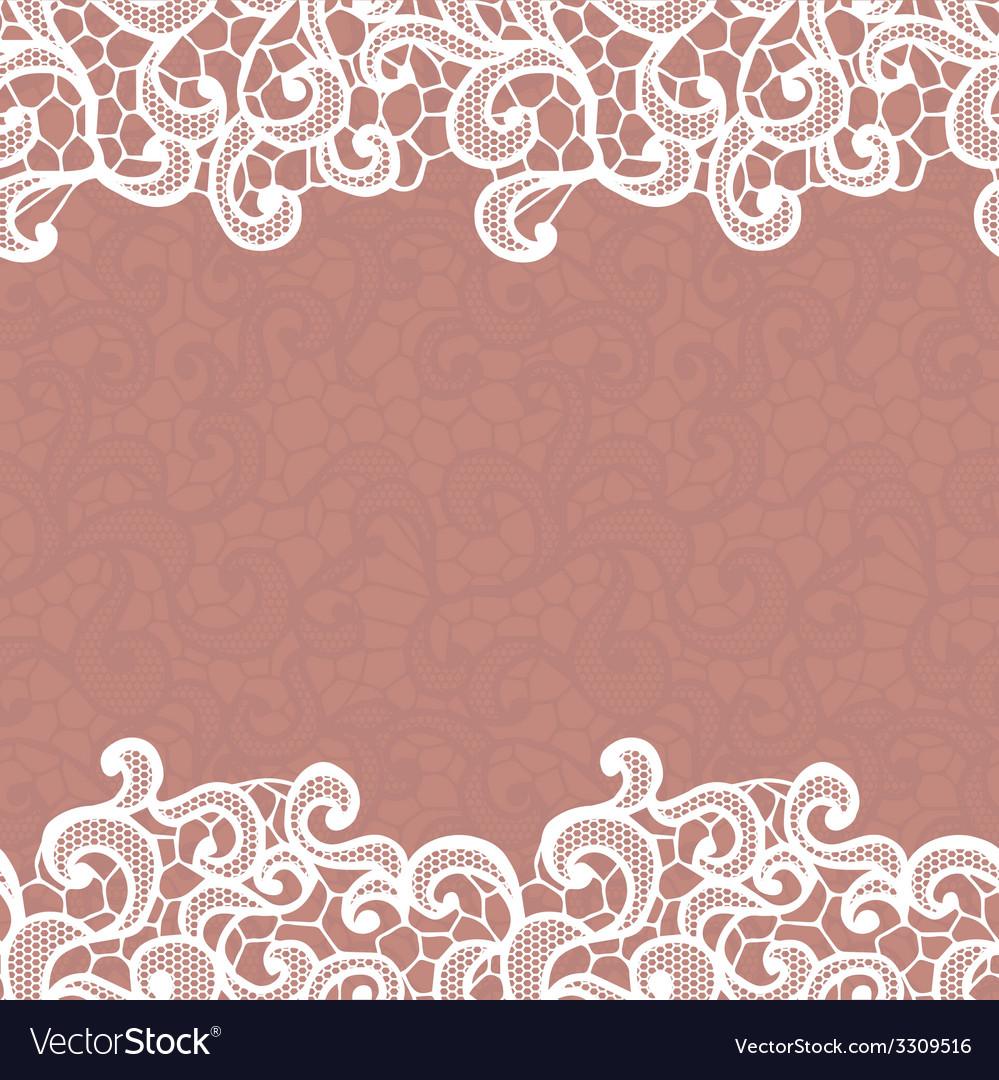 Vintage lace invitation card vector   Price: 1 Credit (USD $1)