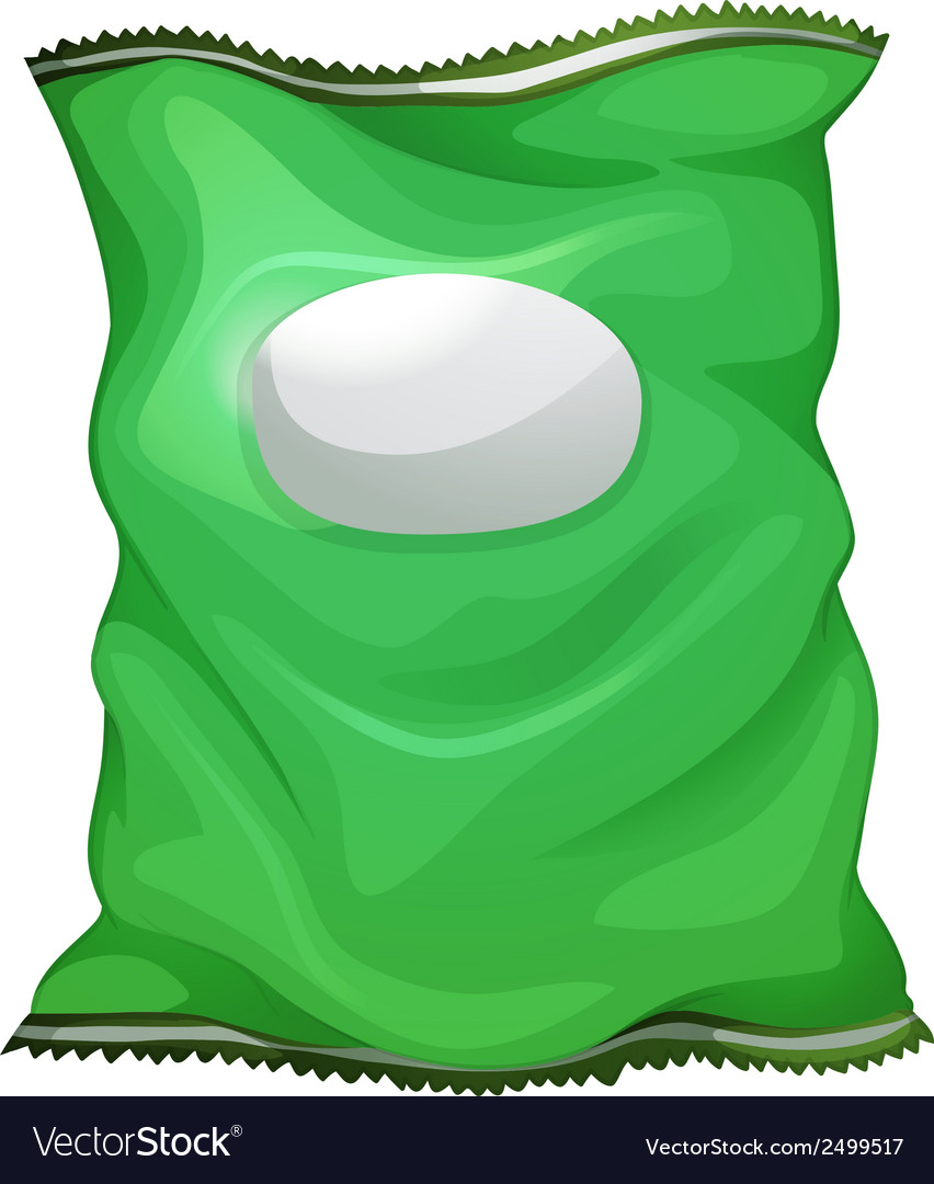 A green bag with an empty label vector | Price: 1 Credit (USD $1)