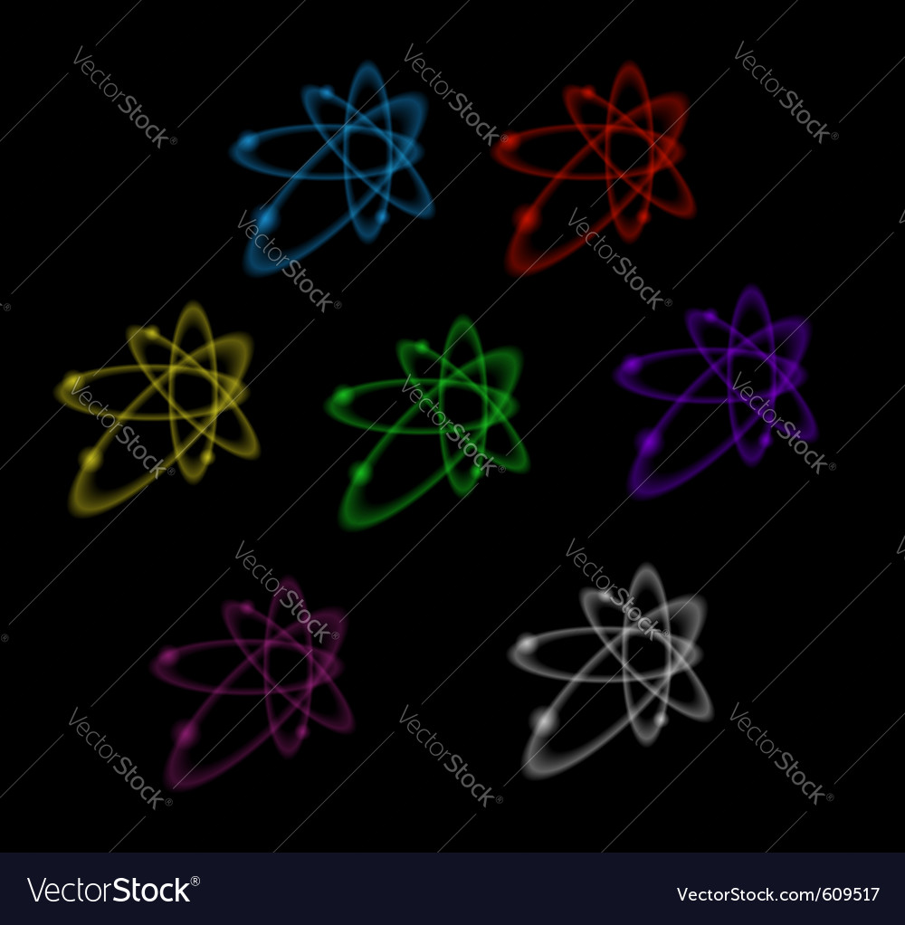 Abstract transparent nuclear symbols vector | Price: 1 Credit (USD $1)