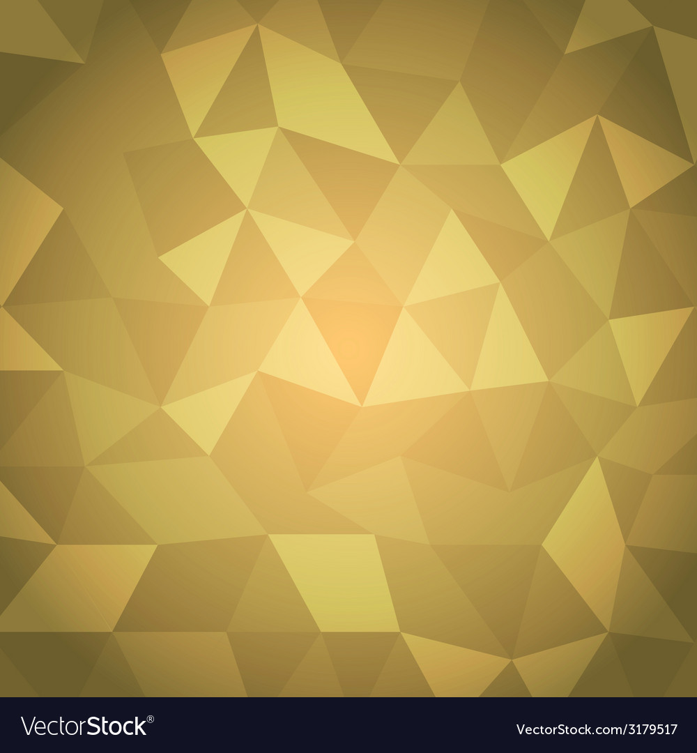 Abstract triangle with yellow background vector | Price: 1 Credit (USD $1)