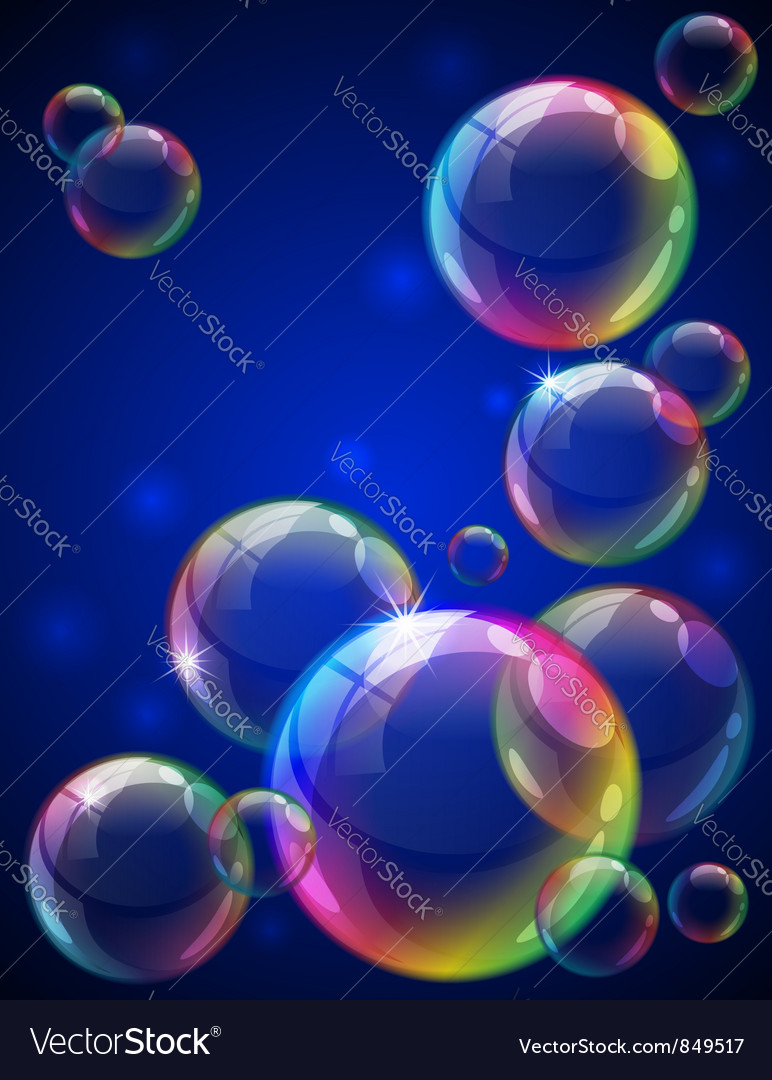Bubbles background vector | Price: 1 Credit (USD $1)