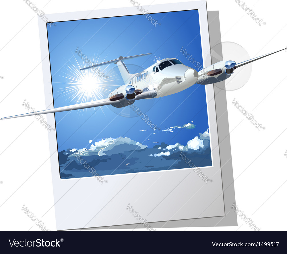 Civil utility airplane vector | Price: 3 Credit (USD $3)