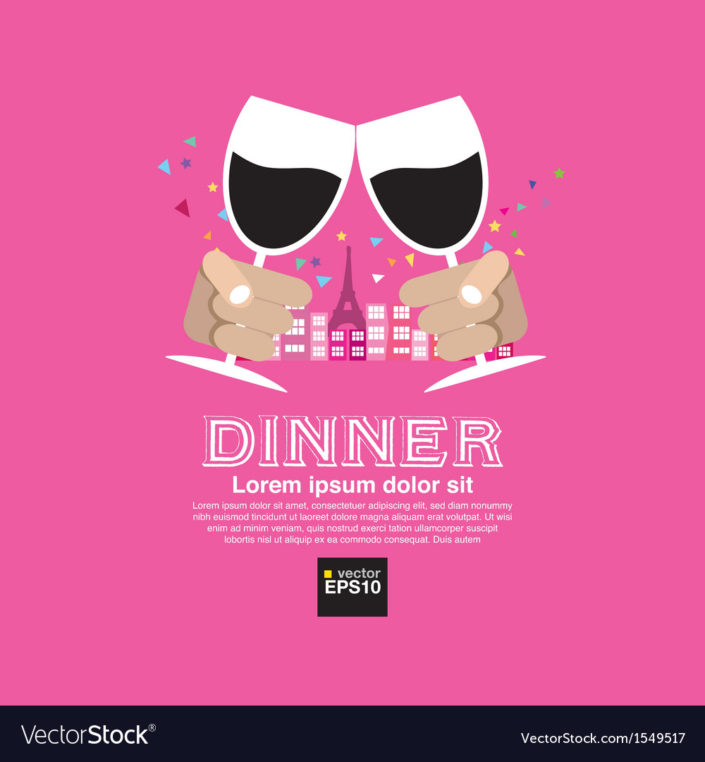 Dating dinner concept eps10 vector | Price: 1 Credit (USD $1)