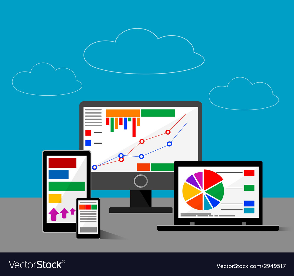 Design concept of website or finace analytics vector | Price: 1 Credit (USD $1)