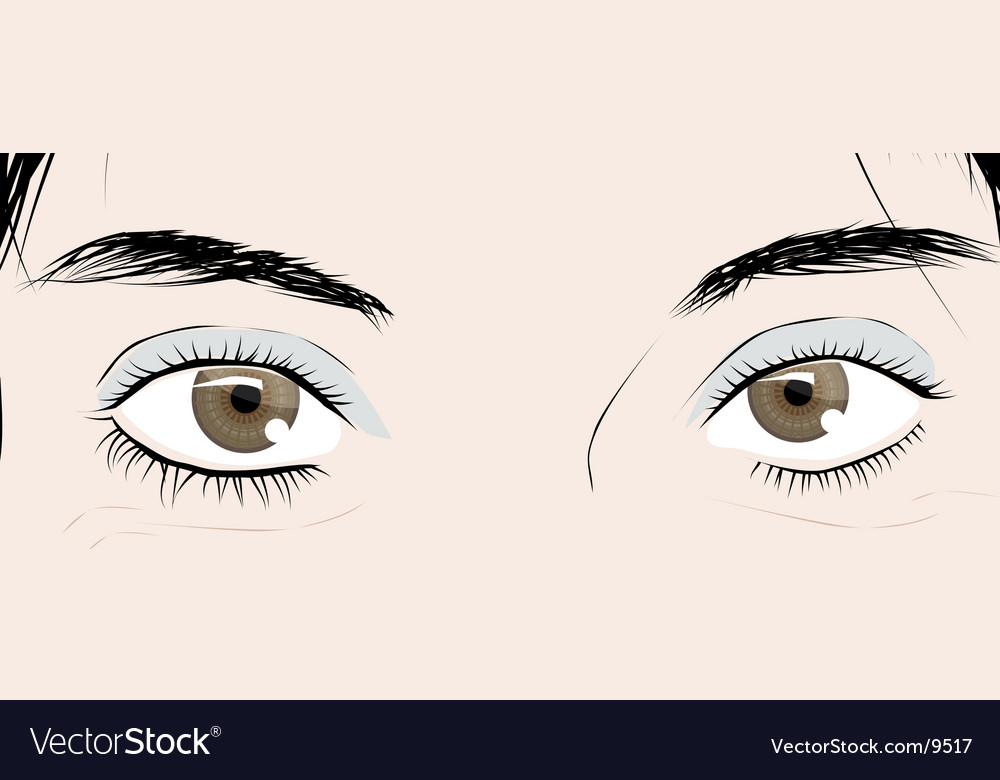 Female eyes vector | Price: 3 Credit (USD $3)