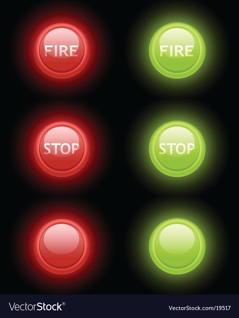 Fire and stop buttons vector | Price: 1 Credit (USD $1)