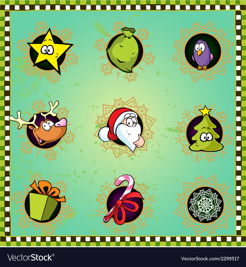 Funny christmas icon vector | Price: 1 Credit (USD $1)
