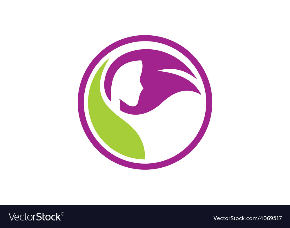 Hair salon beauty abstract logo vector | Price: 1 Credit (USD $1)
