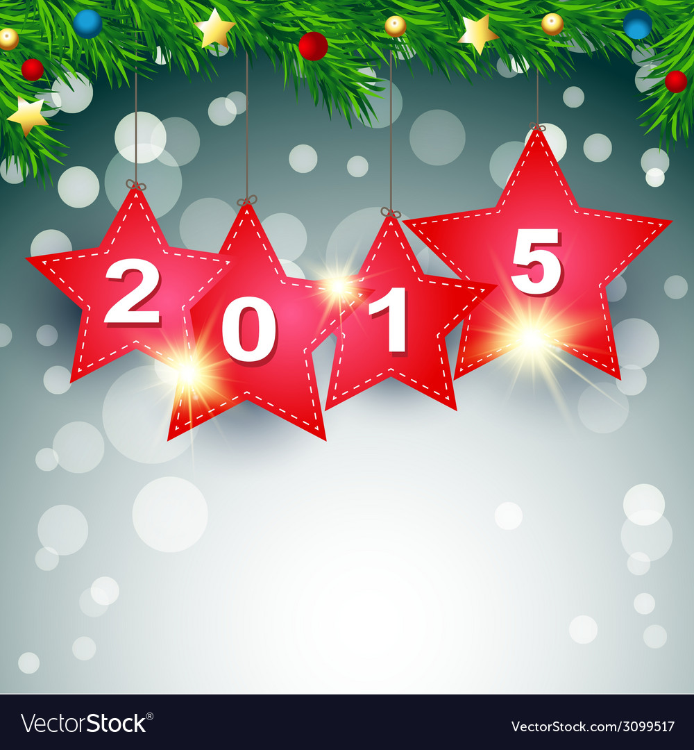 Hanging 2015 happy new year background vector   Price: 1 Credit (USD $1)