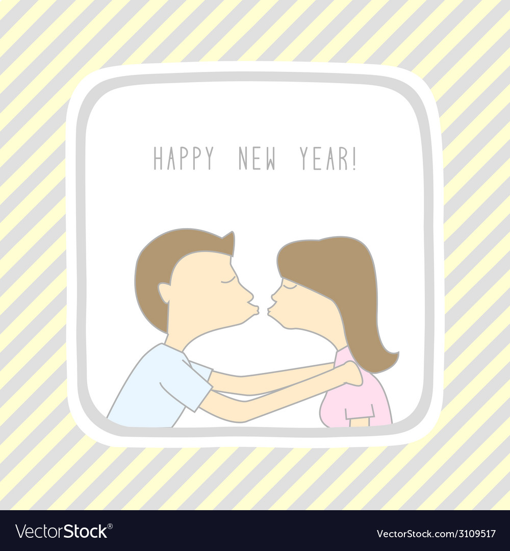 Happy new year greeting card11 vector | Price: 1 Credit (USD $1)