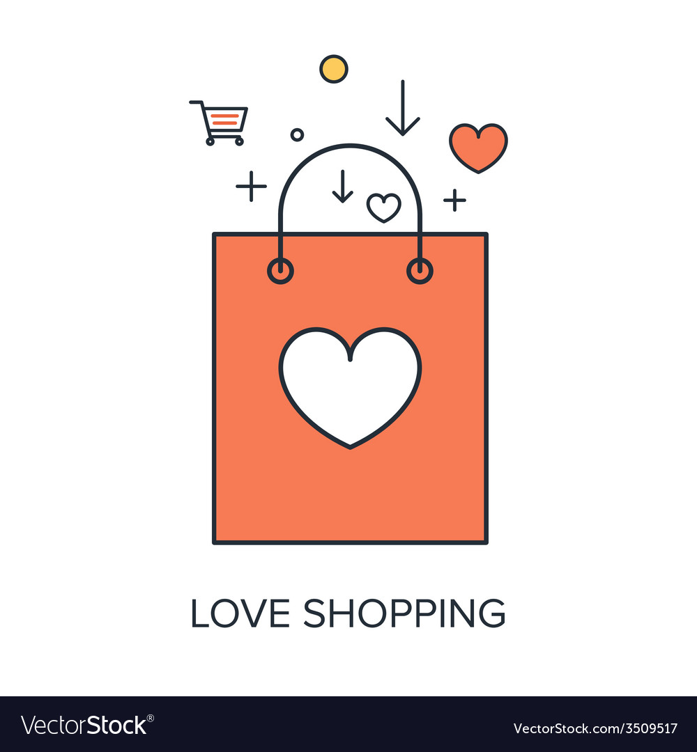 Love shopping vector | Price: 1 Credit (USD $1)