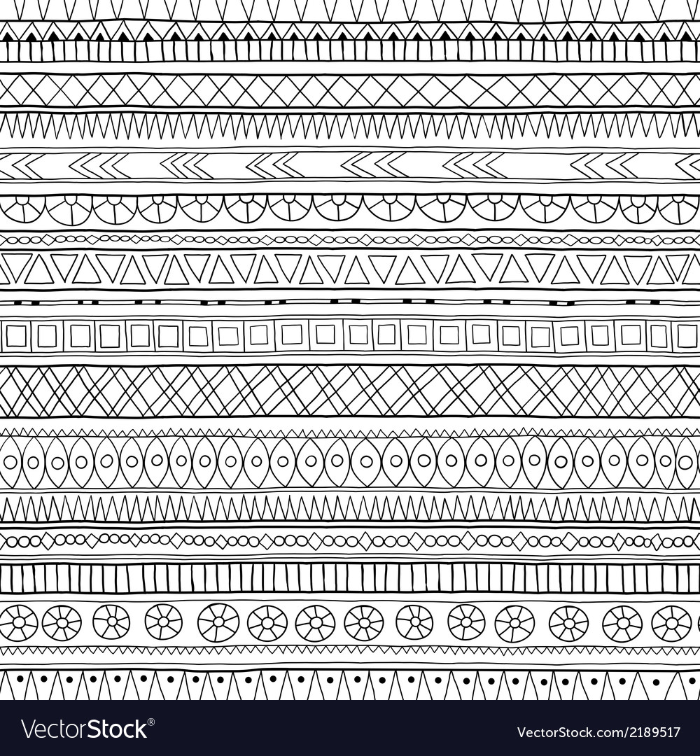 Original tribal doddle ethnic pattern vector | Price: 1 Credit (USD $1)