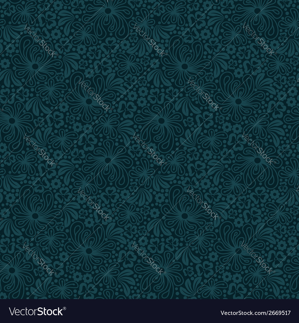 Seamless blue lace pattern vector   Price: 1 Credit (USD $1)