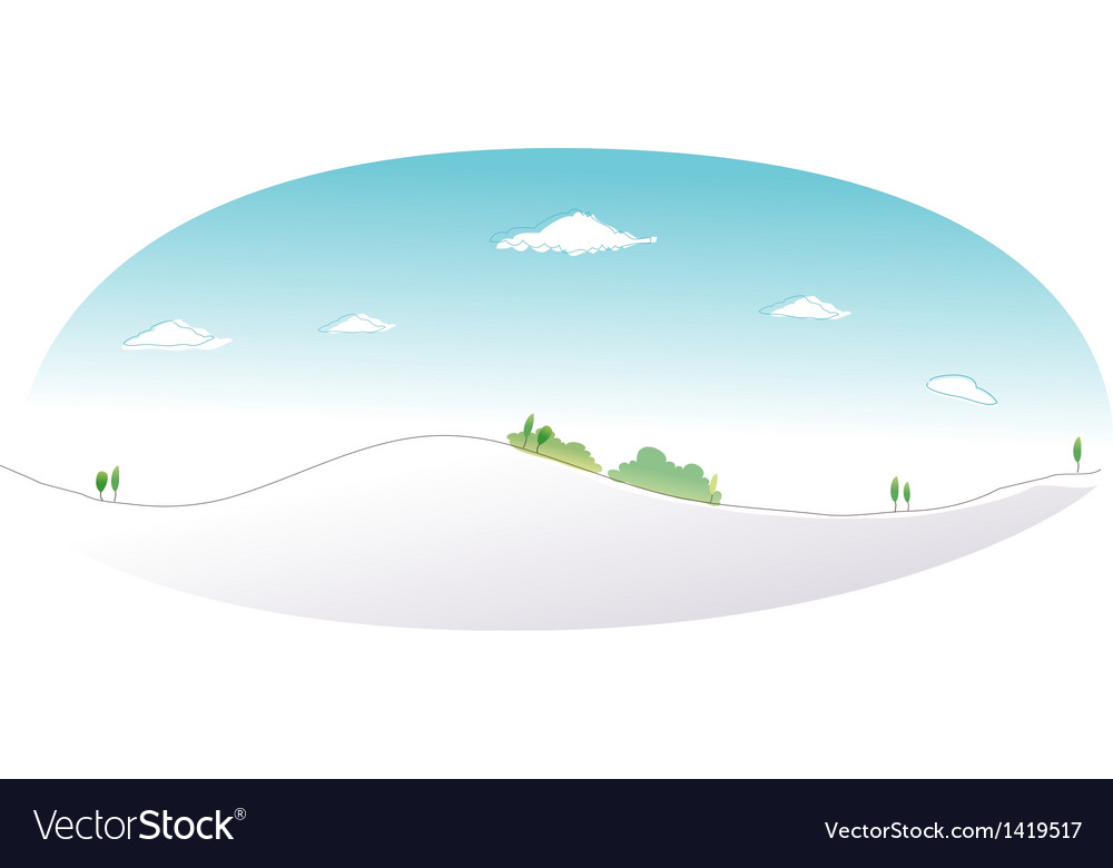Snow mountain peak vector | Price: 1 Credit (USD $1)