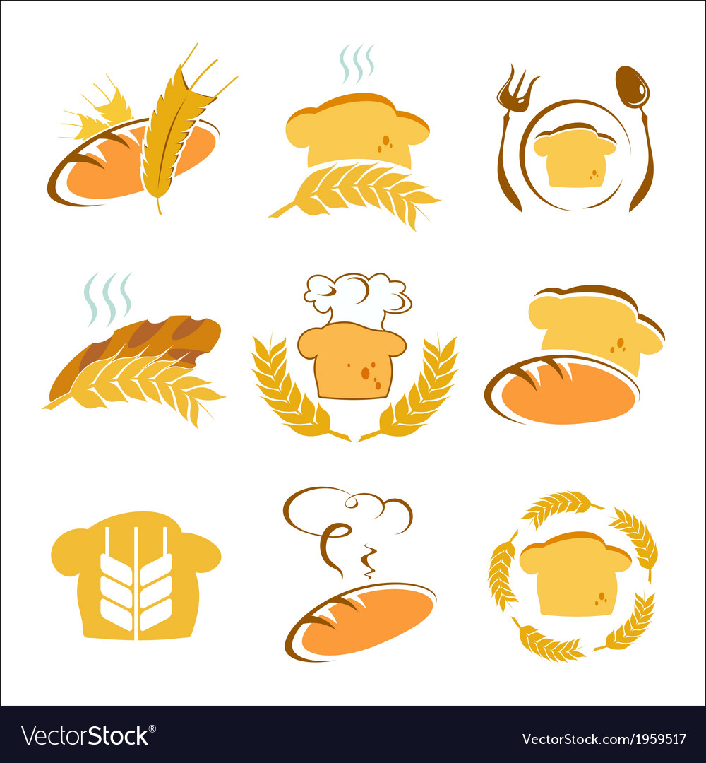 Symbols of bread vector | Price: 1 Credit (USD $1)