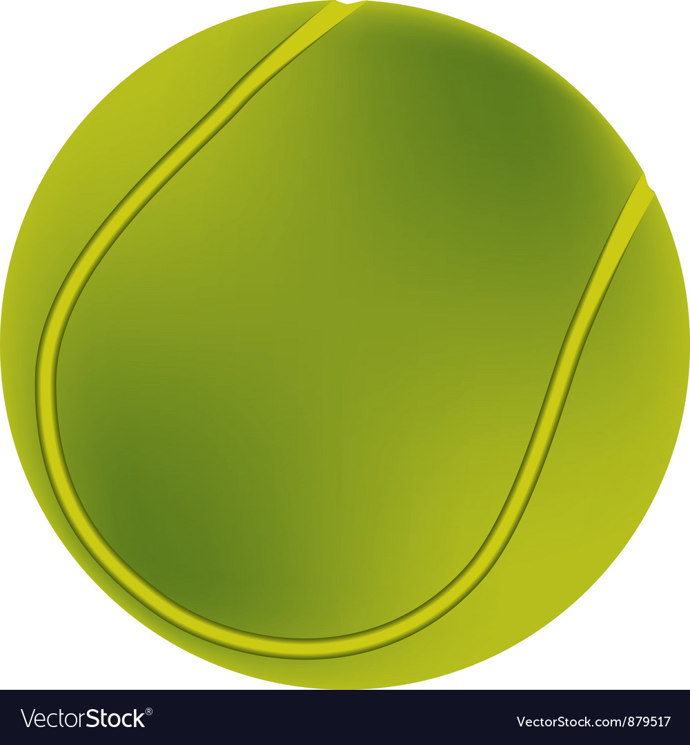Tennis ball vector | Price: 1 Credit (USD $1)