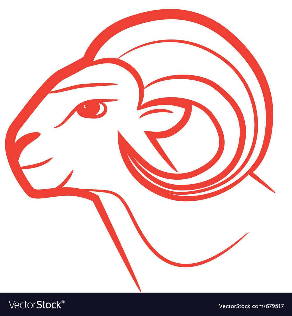 Zodiac sign aries logo vector | Price: 1 Credit (USD $1)