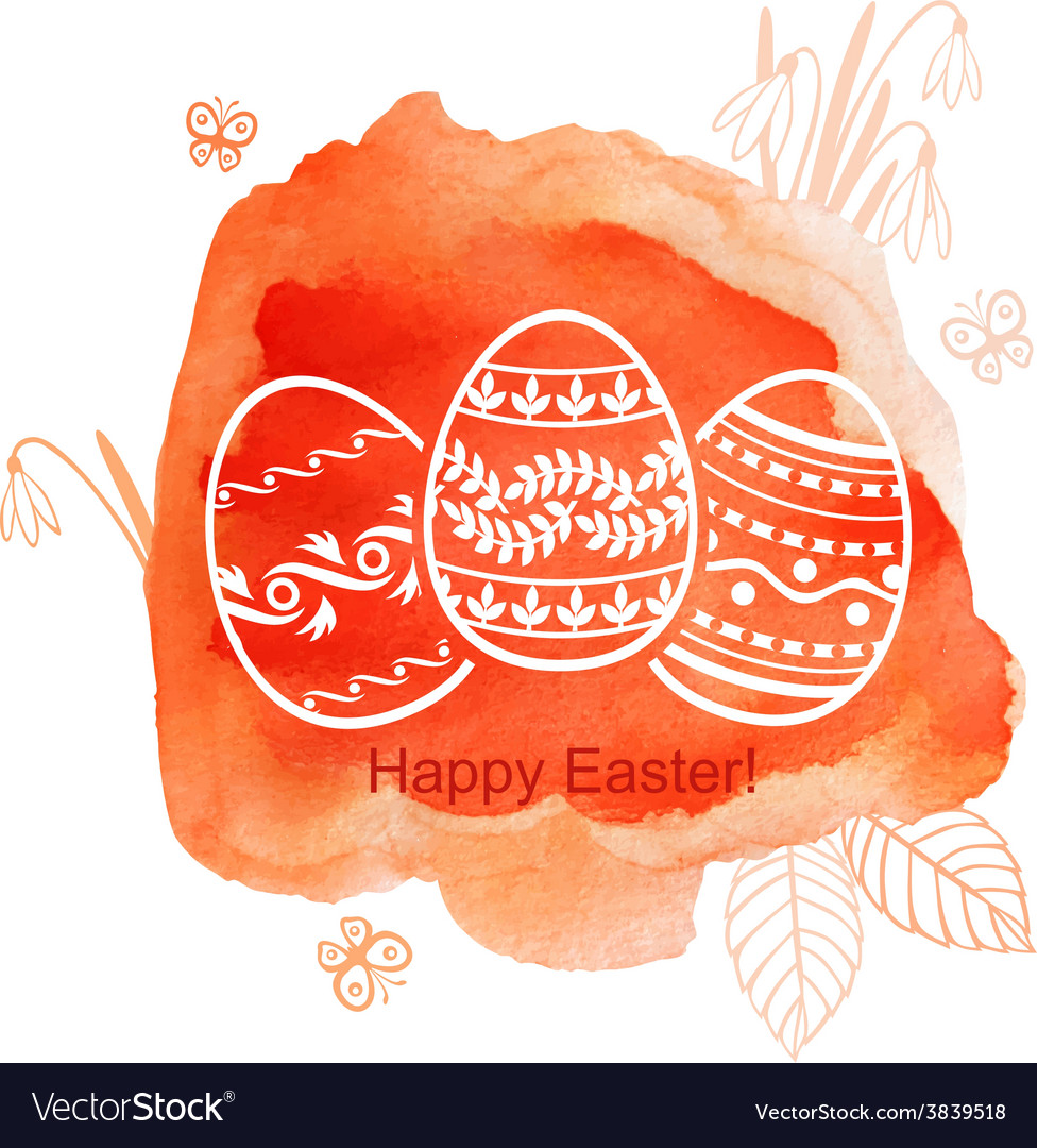 Easter watercolor red vector | Price: 1 Credit (USD $1)