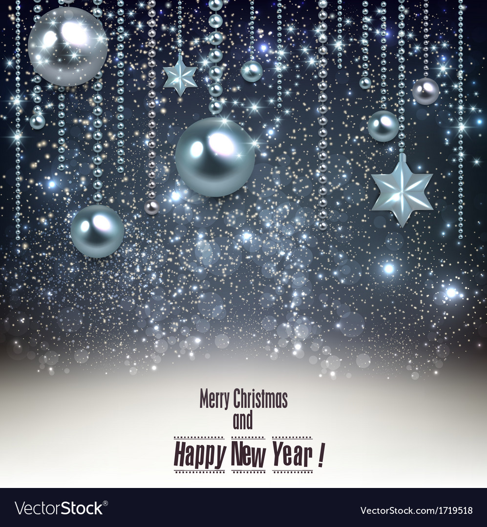 Elegant christmas background with blue baubles and vector   Price: 1 Credit (USD $1)