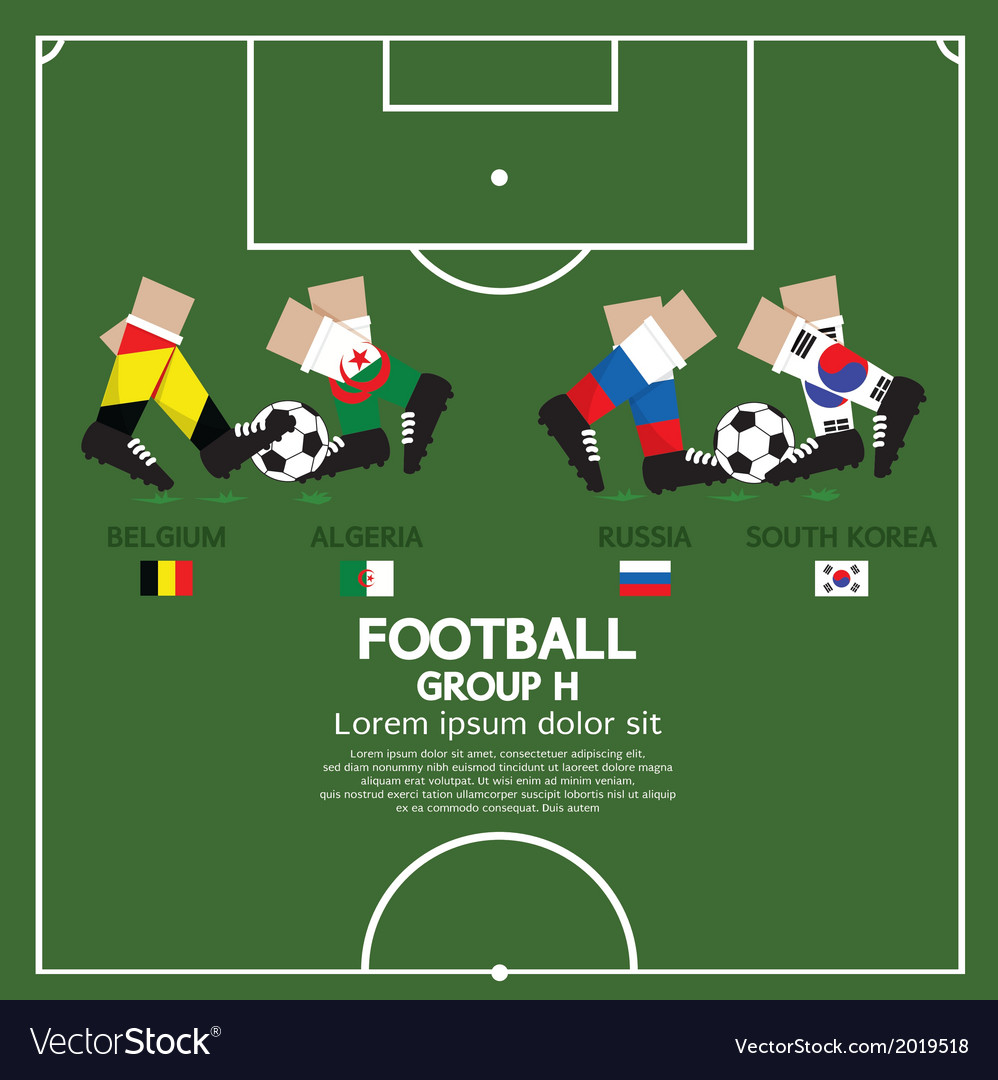 Group h 2014 football tournament vector | Price: 1 Credit (USD $1)