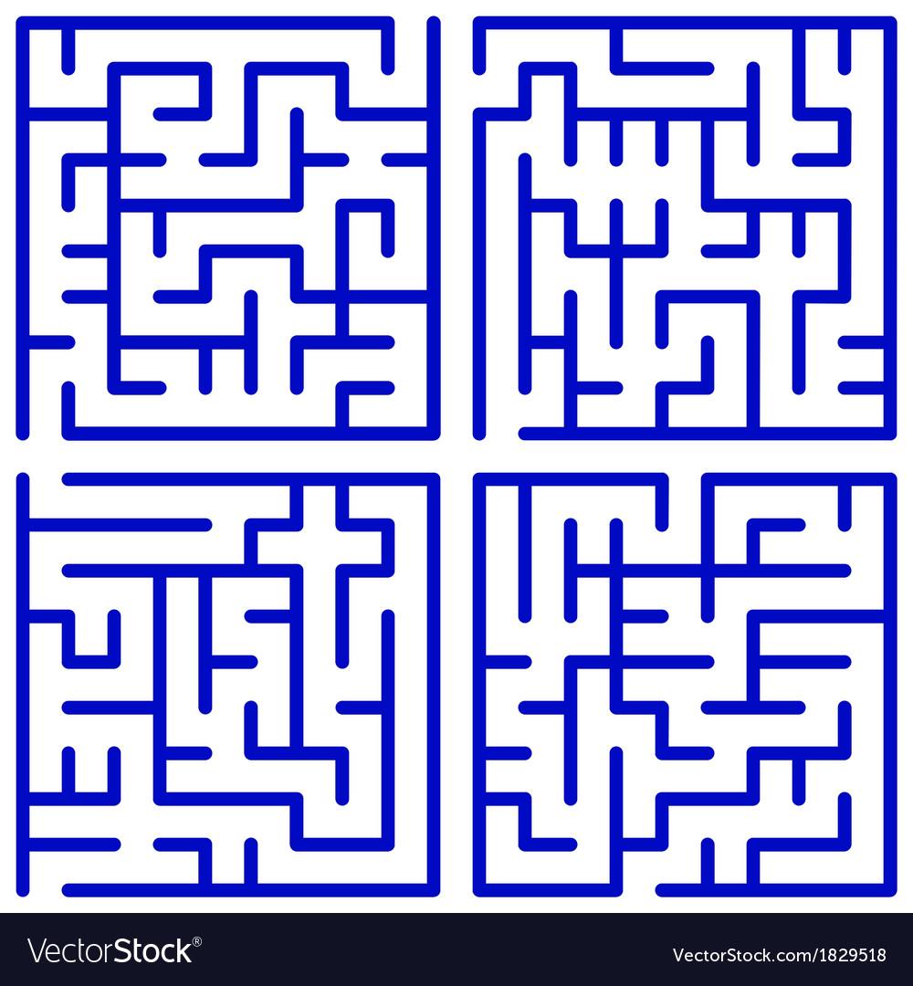 Maze set vector | Price: 1 Credit (USD $1)