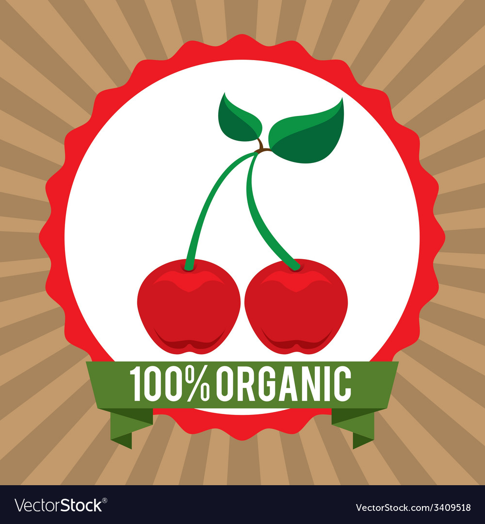 Organic healthy food design vector | Price: 1 Credit (USD $1)