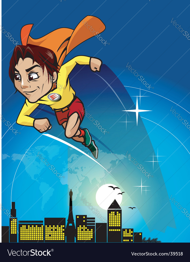 Super hero cartoon vector | Price: 3 Credit (USD $3)