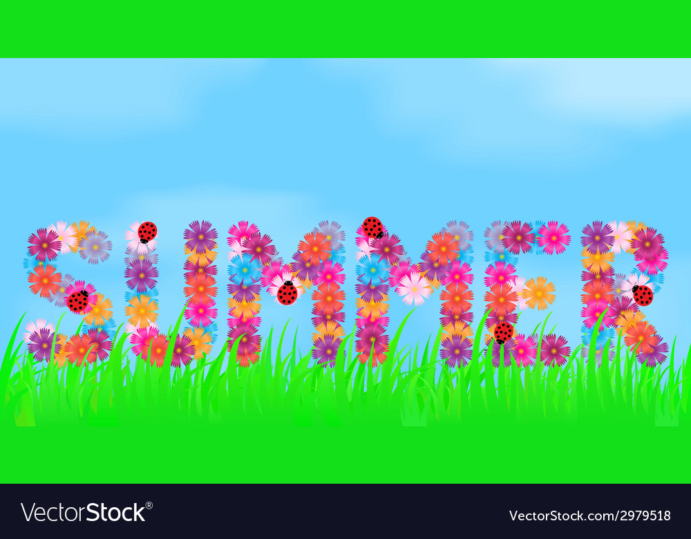 Title of summer flowers vector | Price: 1 Credit (USD $1)