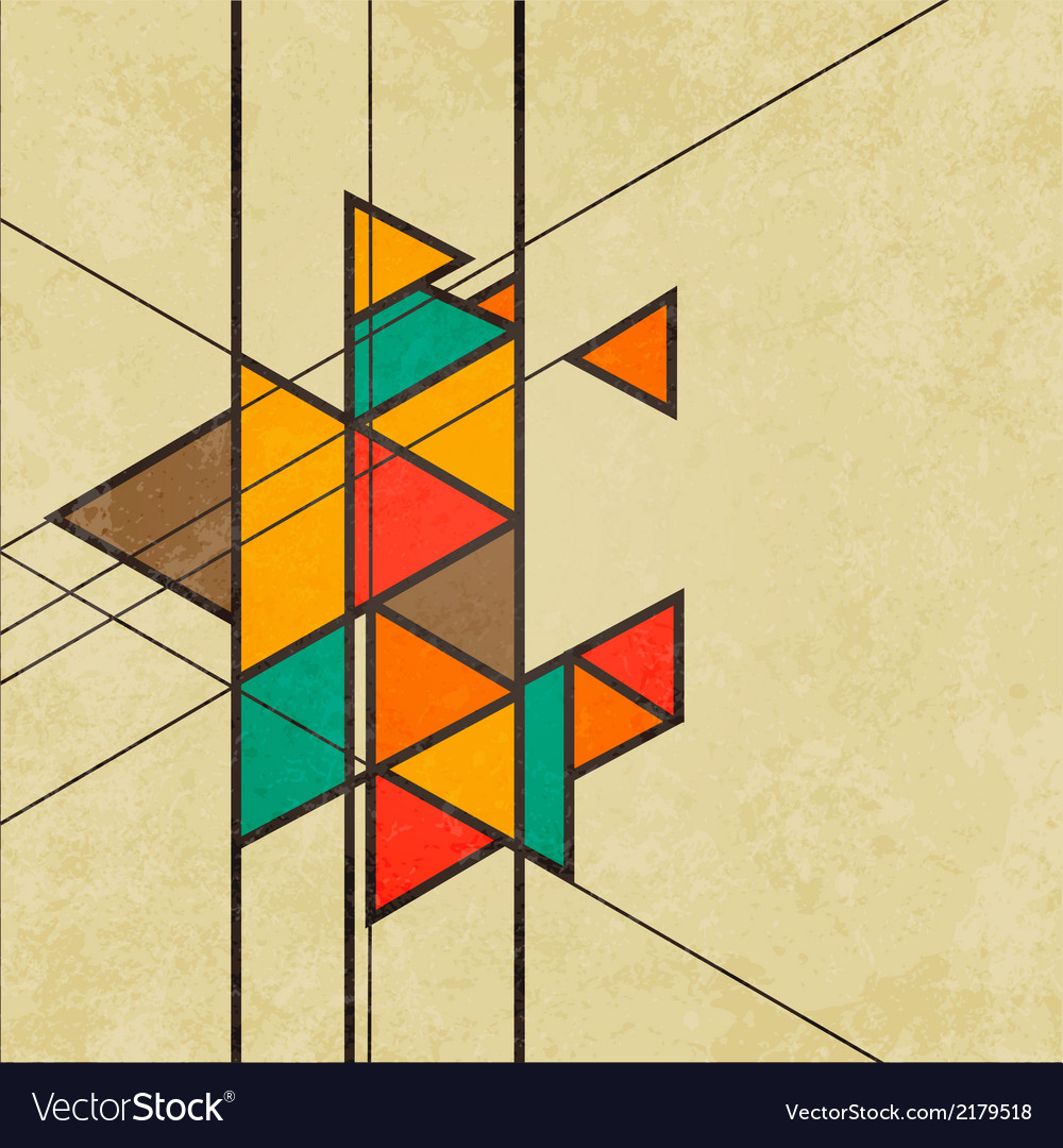Triangular retro abstract background vector | Price: 1 Credit (USD $1)