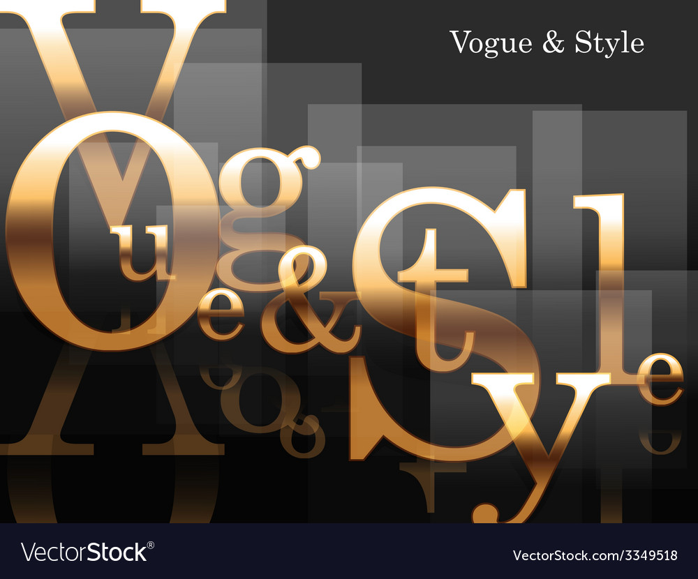 Vogue and style vector | Price: 1 Credit (USD $1)