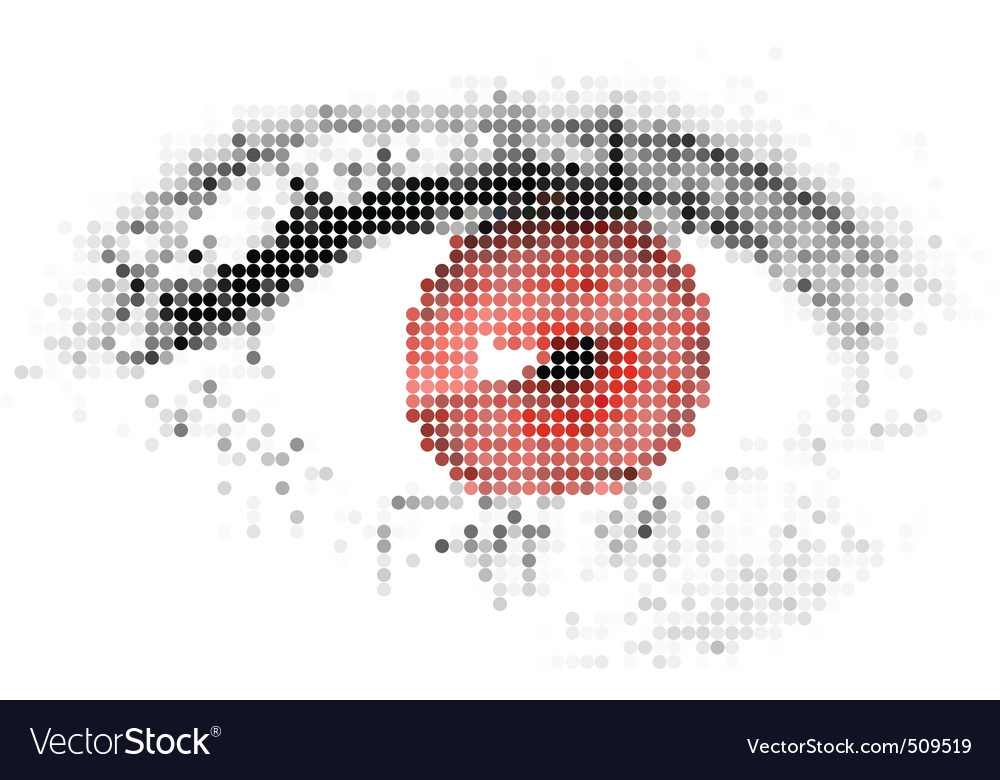 Abstract human digital red eye vector | Price: 1 Credit (USD $1)