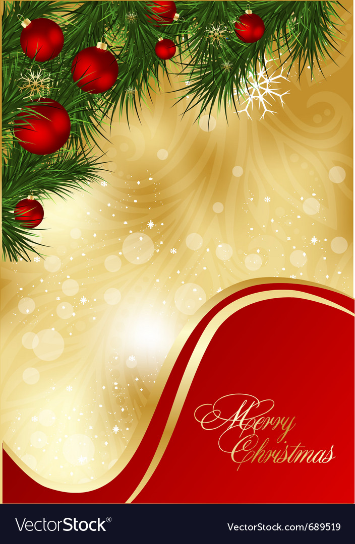 Abstract xmas card vector | Price: 1 Credit (USD $1)