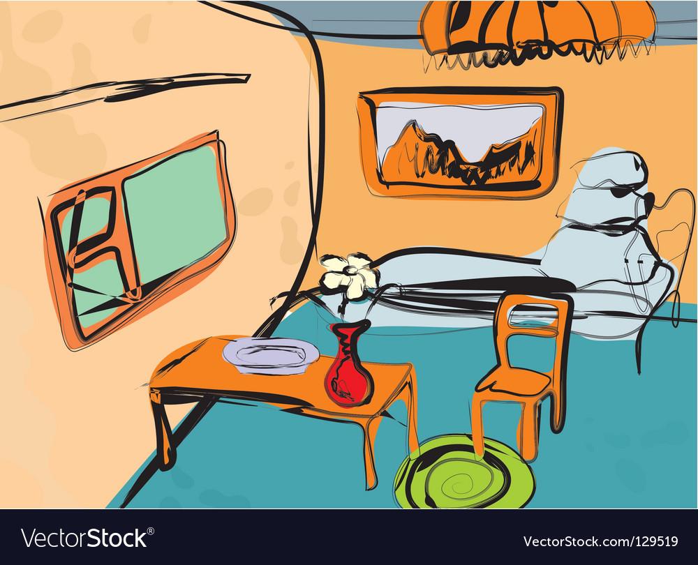 Artistic room vector