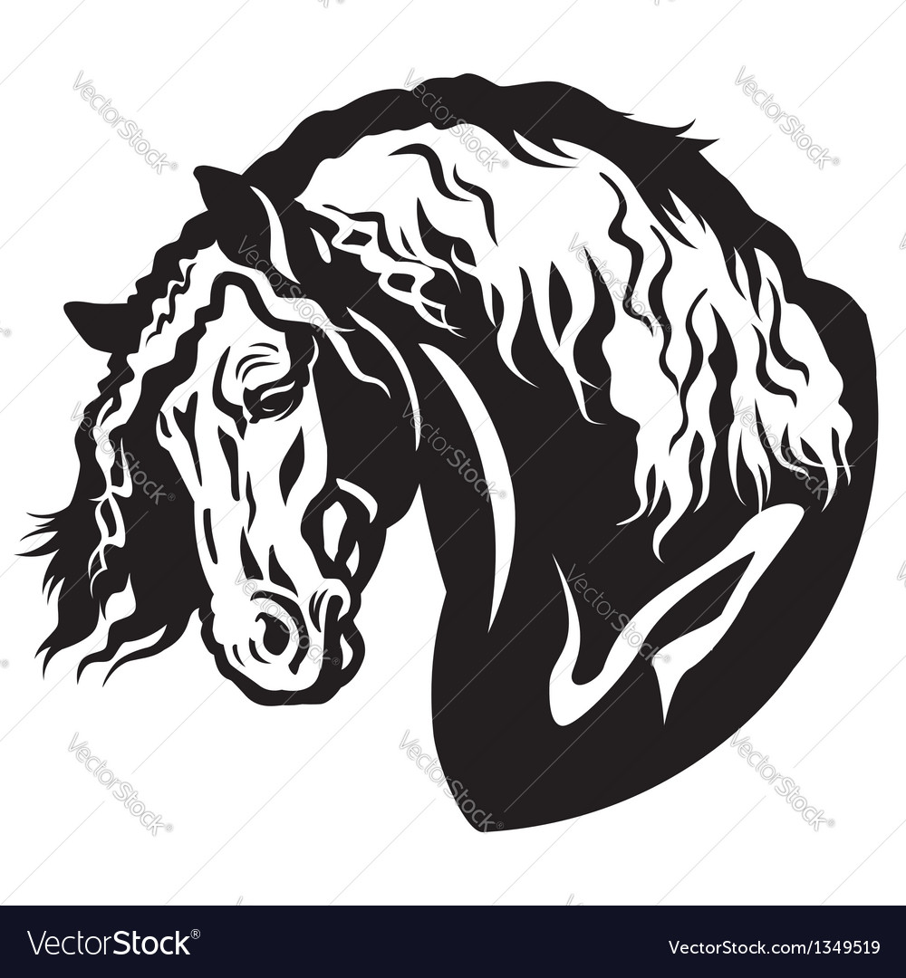 Heavy horse head vector | Price: 1 Credit (USD $1)