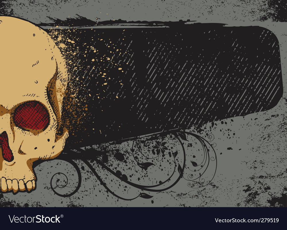 Skull and frame vector | Price: 1 Credit (USD $1)