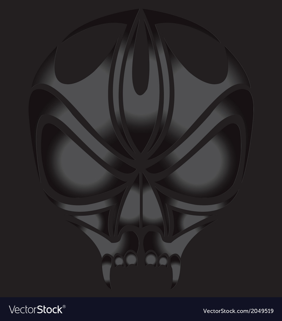 Skull devil on dark background vector | Price: 1 Credit (USD $1)