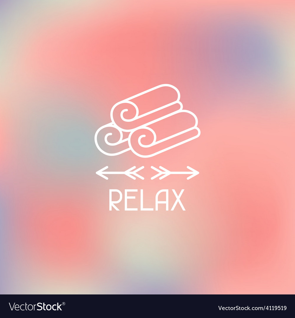 Spa relax label on blurred background vector | Price: 1 Credit (USD $1)