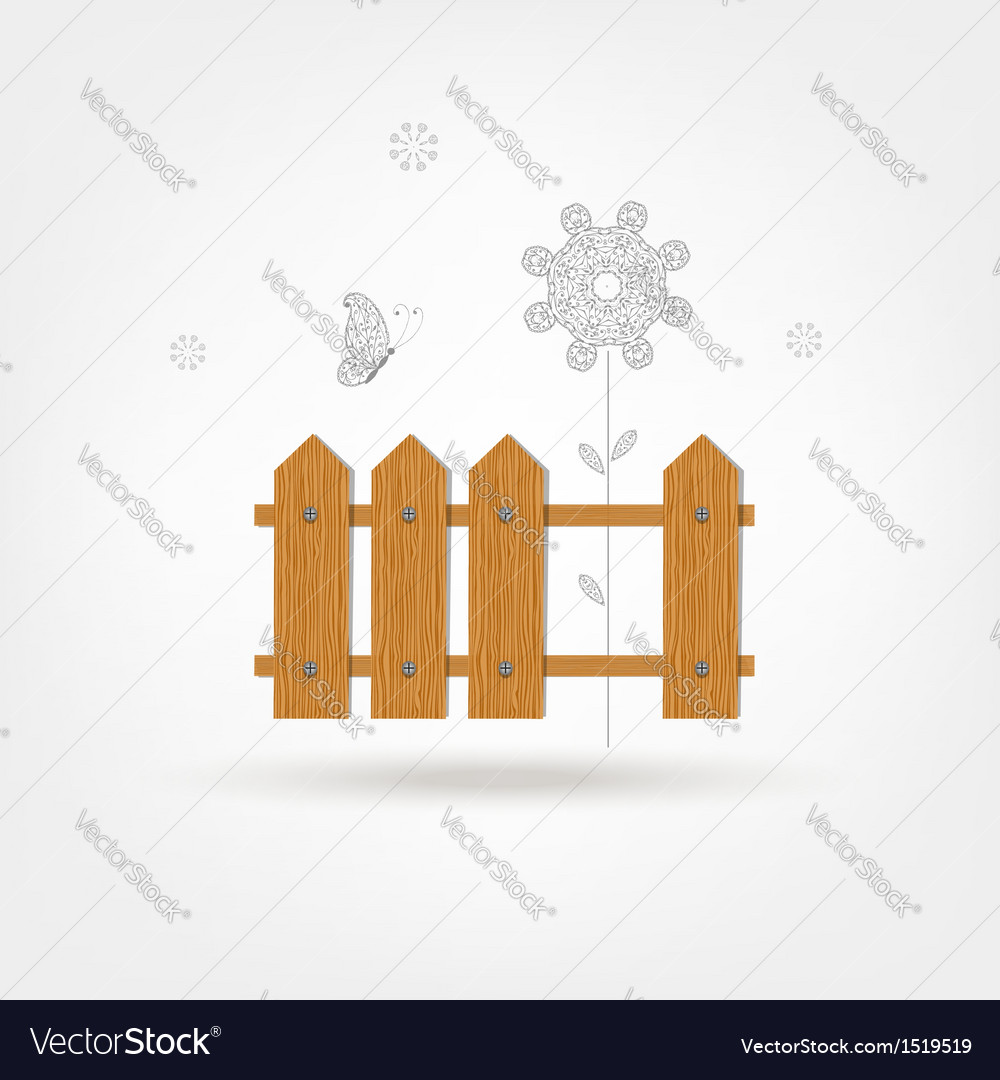 Wooden boards fence vector | Price: 1 Credit (USD $1)