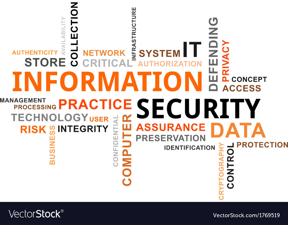 Word cloud information security vector | Price: 1 Credit (USD $1)