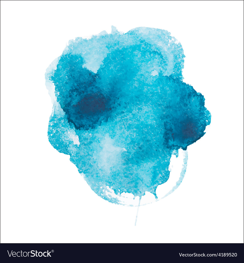 Abstract watercolor aquarelle hand drawn blue art vector | Price: 1 Credit (USD $1)