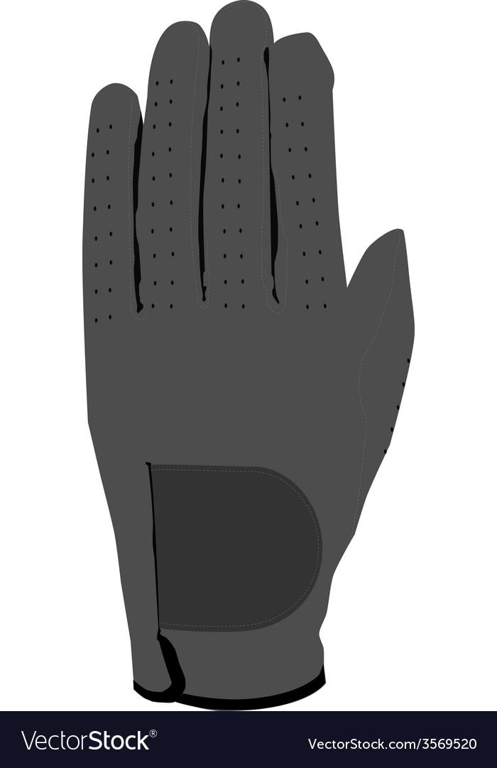 Grey glove vector | Price: 1 Credit (USD $1)