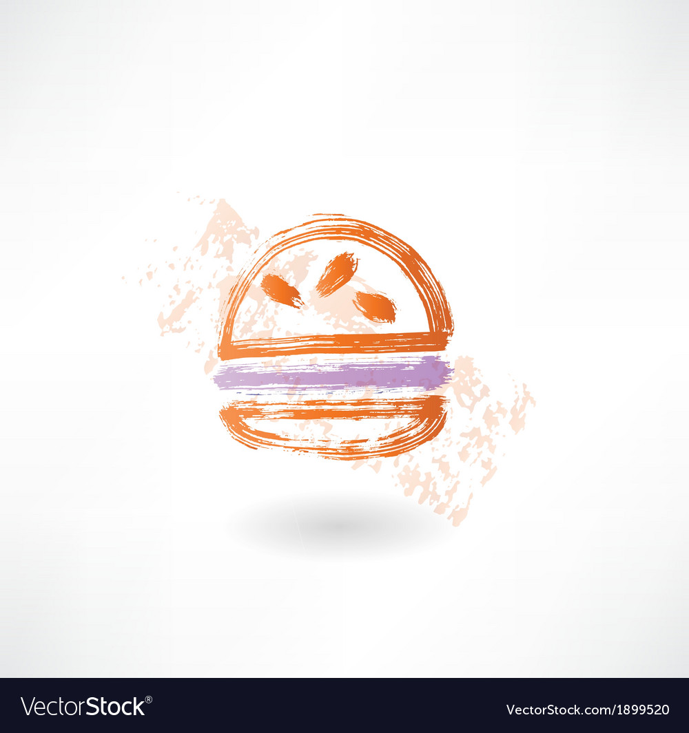 Hamburger grunge icon vector | Price: 1 Credit (USD $1)
